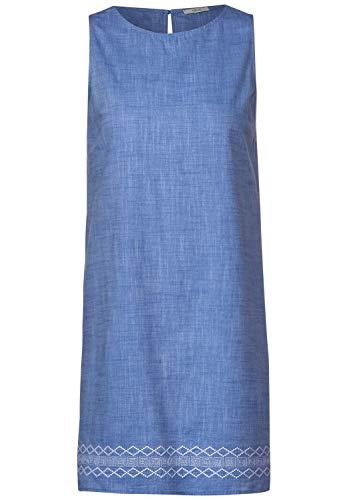 Cecil Damen Kleid mit Ethno-Stickerei Blouse Blue XXL