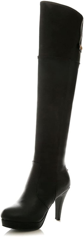 RHFDVGDS Super Sexy high Heel Stiletto Boots Date in Autumn and Winter Recreation Joker Slim Skinny Leg Boots Side Zipper Rivet