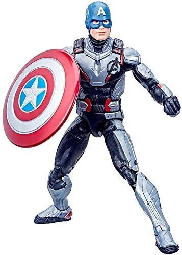 DNSJB Vengadores Toys- Capitán América de 6 pulgadas - de la Liga de los Vengadores - Juguetes móviles conjuntos de regalo de cumpleaños para niños