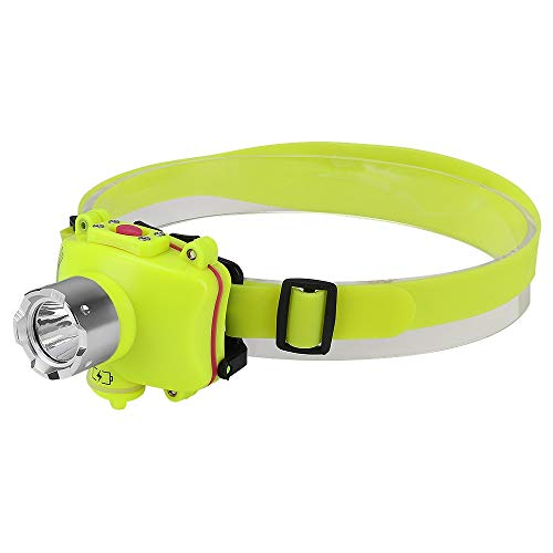 yywl Linterna Frontal LED Impermeable 3200lm T6 4 Modo Natación Faros Delanteros Faro subacuático Lámpara de Pesca Linterna led