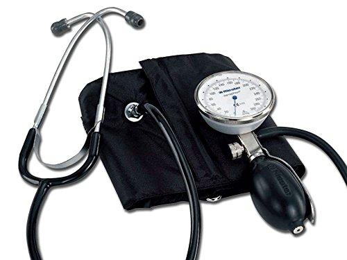 Riester 1442 Einhand-Blutdruckmessgerät, sanaphon mit Stethoskop, Bügel-Klettenmanschette, Erwachsene