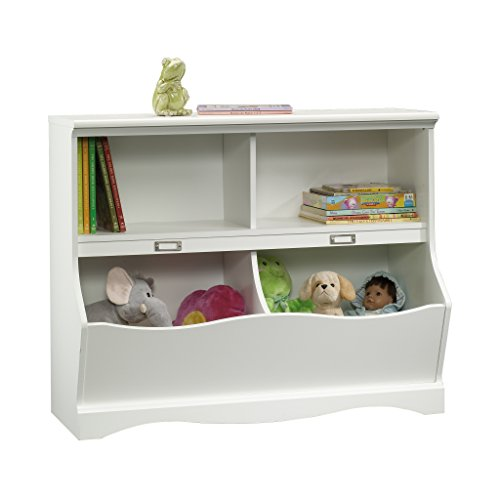 Sauder Pogo Bookcase/Footboard, Soft White Finish