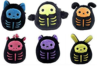 "Squishmallow Kellytoy 2020 Halloween Skeleton Set of 6 Mini 5"" Plush Toy"
