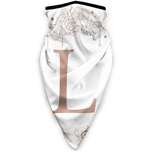 Not Applicable Neck Scarf,Letter L Initial Monogram Half Face Scarf Premium for Patry Magic Scarf Headband 24x52cm
