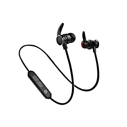 Bluetooth Headphones,SIGERUITE Best Wireless Sports Earphones w/Mic IPX7 Waterp Lightweight & Fast Pairing (CVC 6.0 Noise Cancelling Mic, Snug Silicon Earbuds, Magnetic Design)