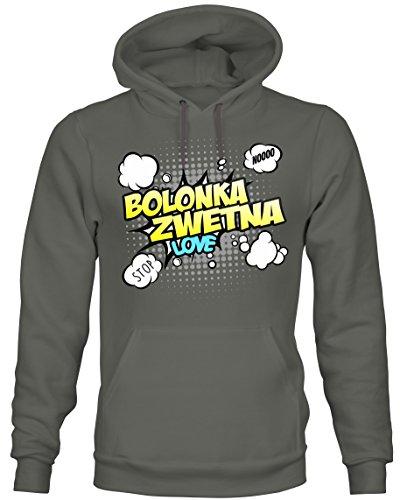 Siviwonder Unisex Hoodie Kapuzensweatshirt - BOLONKA ZWETNA Tsvetnaya Bolonka - Comic Cartoon Fun...