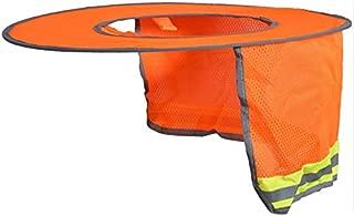 Whiteswanau Hard Hat Sun Shade Neck Shield Sun Protection with Reflective Strip and High Visable Mesh Design for Hardhats/Helmet