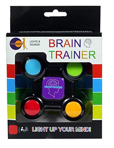 Fun Trading 4802 - Brain Trainer, Gedächtnis und Lernspiel mit Licht und Sound, inklusive Batterien