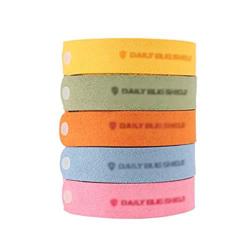 NSC Bracelet Anti-Moustique, 5 Pcs Bracelet Anti Moustique Enfant Et Adultes Naturel Bracelets Naturel Répulsif Anti-Moustiques Réglable, Extérieure Intérieure Camping Bracelet Anti Moustique