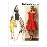Vogue Patterns 6129 A5 - Patrones de Costura para Vestido de Mujer (Tallas 32 a 40)