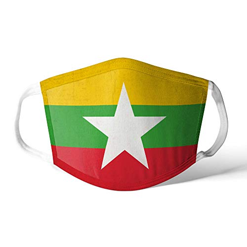 M&schutz Maske Stoffmaske Mittel Asien Flagge Myanmar/Burma Wiederverwendbar Waschbar Weiches Baumwollgefühl Polyester Fabrik