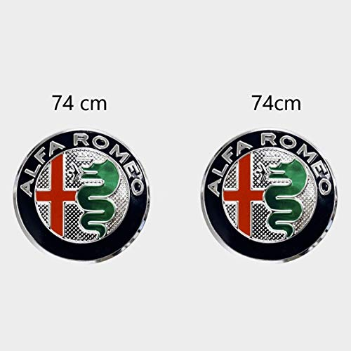 Pack de Emblemas para capo y maletero 74mm de repuesto. Insignia Plateada (2 Unidades)