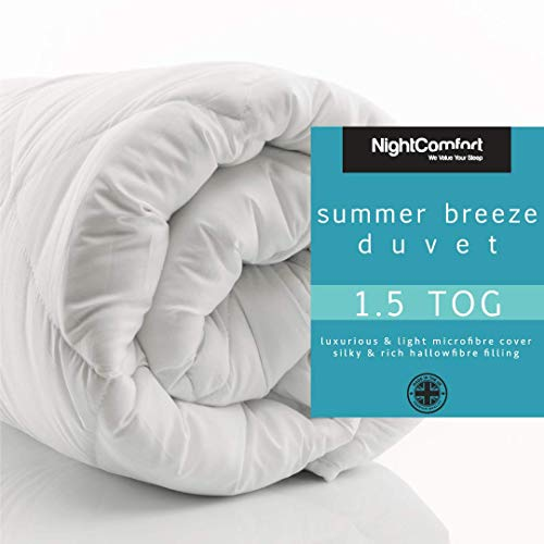 Night Comfort Anti Allergy Summer Luxury Microfibre Soft Touch Hollowfibre Duvet (1.5 tog, Single)