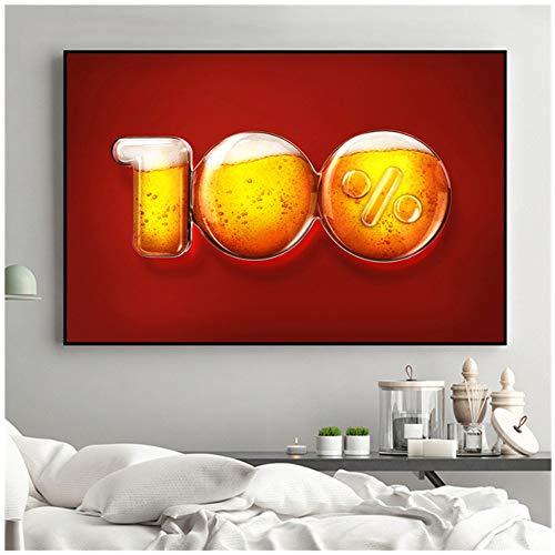 """NIESHUIJING druk op canvas wijnschilderij sap druif wijnglazen dranken biervat keuken decor champagne woonkamer decoratie 23.6""""x 35.4""""(60x90cm) Geen lijst1"""