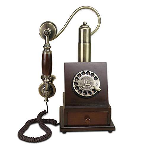 Retro telefon Verdrahten Metalldrehwahl mechanische Klingeln-Pastorale Art und Weise Kreatives Europäisch-Ähnliches Innenministerium 210mm * 185mm * 365mm MUMUJIN