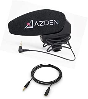 Azden SMX-30 Stereo/Mono Switchable Video Microphone - With 13' Microphone/Headphone Audio Extension Cable