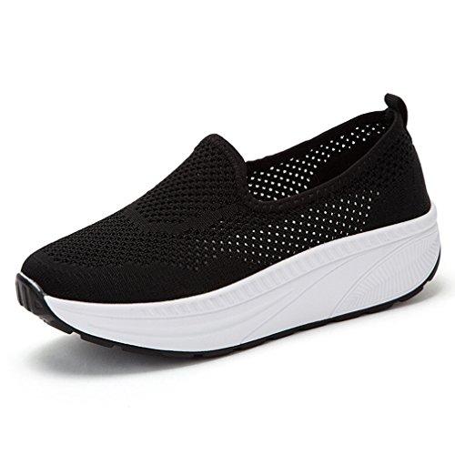 scarpe fitness dimagranti Hsyooes Donna Shape-ups Mesh Piattaforma Dimagranti Sportive Scarpe Fitness Fuori Scarpa da Tennis