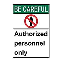 セーフティサイン屋外のANSIの注意してください人事だけでなく、錫金属標識通知警告サイン