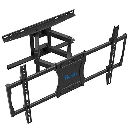 Rentliv Staffa da parete per TV da 37-75 pollici TV piatta e curva fino a 60 kg Max VESA 600x400mm Supporto da parete per TV a doppio braccio
