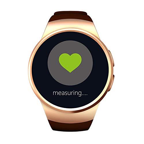 Oyznsb Bluetooth horloge met LCD-display, intelligente smartwatch voor dames en heren, sportieve activiteiten, fitness tracker voor Apple Gear S2 Telefoon Huawei Xiaomi, goud.