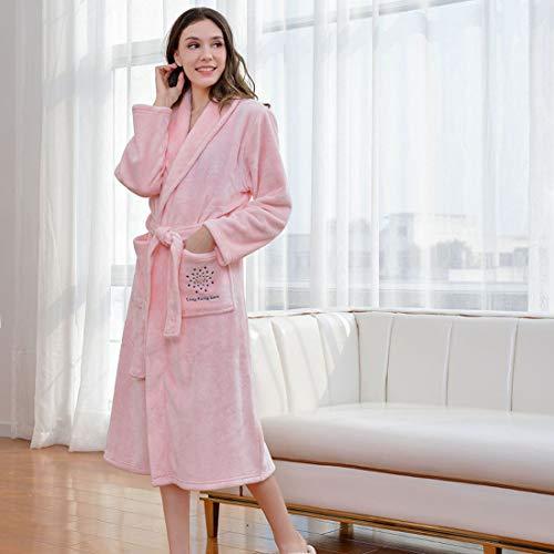 Yuyaxpb Luxe badjas voor dames, badjas met twee zakken, elegant, perfect cadeau