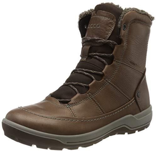 ECCO Women's Trace Lite Mid Hydromax Water-Resistant Winter Snow Boot, Cocoa Brown Nubuck, 10-10.5