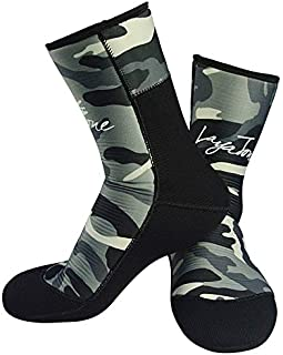 Layatone Diving Socks Adults 9mm Neoprene Socks Boots Surfing Swimming Beach Water Wetsuit Socks Boots Non-Silp Spearfishing Boots Shoes Socks Men Women