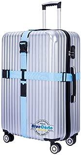 BlueCosto (Blue) Cross Luggage Straps Suitcase Belts 600001-BLU