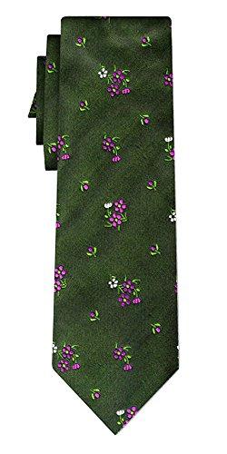 Generisch Seidenkrawatte folklore flowers on green