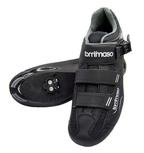 Tommaso Strada 200 Dual Cleat Compatible Spin Class Ready Bike Shoe - Look Delta - 43 Black