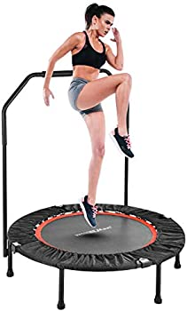 Wonder Maxi Mini Fitness Trampoline with Handrail and Safety Pad