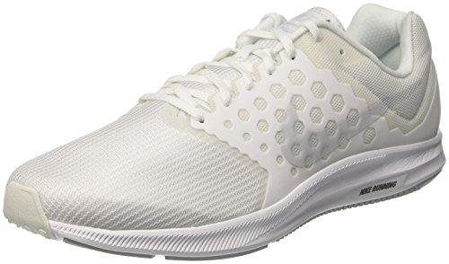 Nike Nike Herren Downshifter 7 Laufschuhe, Elfenbein (White/Pure Platinum), 46 EU