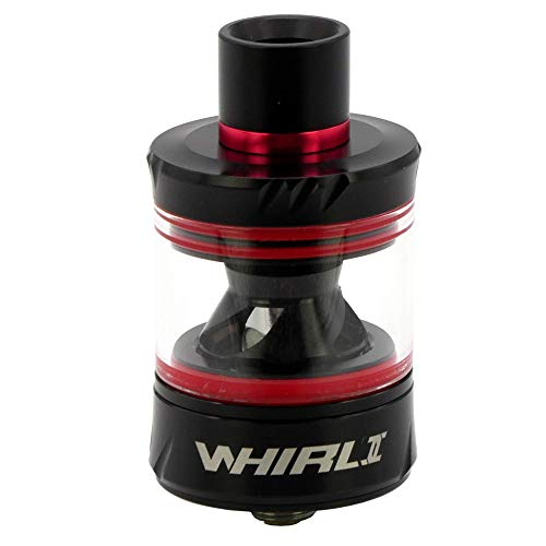 Uwell Whirl 2 Tank Clearomizer 3,5 ml, Durchmesser 25 mm, Verdampfer für e-Zigarette, schwarz-rot