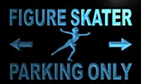 Multi Color m312-c Figure Skater Parking Only Neon LED Sign with Remote Control, 20 Colors, 19 Dynamic Modes, Speed & Brightness Adjustable, Demo Mode, Auto Save Function