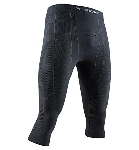 X-Bionic Moto Energizer 4.0 Light 3/4 Men Pants Homme, Charcoal/Pearl Grey, FR (Taille Fabricant : XL)