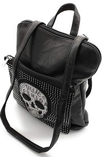 Beast Style Bolso mochila mujer   diseño original calavera  Negro