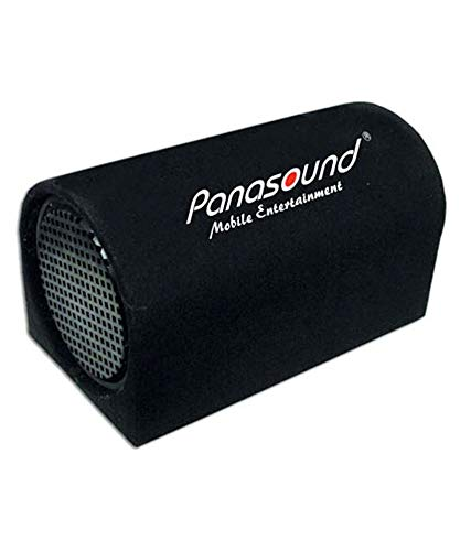Panasound 10 inch Leather Finish bass Tube with inbuilt Amplifier (Solid Sound)