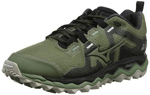 Mizuno Wave Mujin 6, Zapatillas de Trail Running para Mujer, Verde Oliva Oliva Negro 32, 39 EU