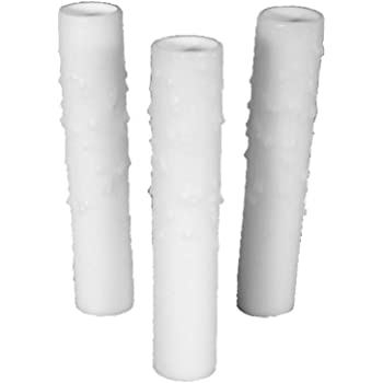 Lot of 12 pcs 4 Tall White Candelabra Base Thin 3//4 Inner Diameter Beeswax Candle Covers Socket Sleeves Chandelier Socket Covers