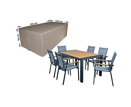 Raffles Covers NW-RDS180155 Afdekzeil voor tuintafel en stoelen 180 x 155 H: 90 cm Afdekking Tuinmeubelen, Beschermhoes Tuinmeubelen en Afdekzeil voor zitgarnituren, Afdekking Tuinmeubelen