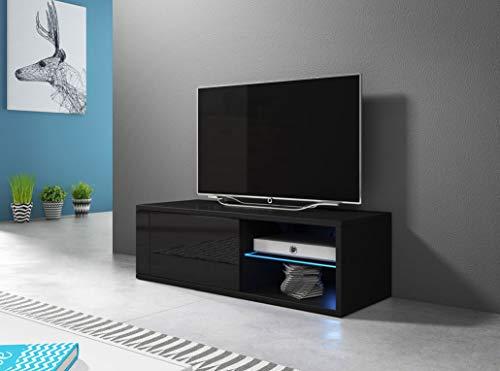 WFL GROUP Mueble de TV Moderno Contemporáneo con LED - hasta TV de 39