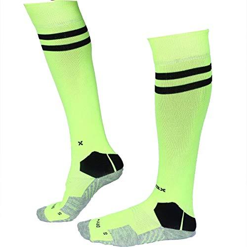 AllsBalls Sports Socks Football Stocking Dry Fast Elite Unisex Knee High Striped Sports Football/Soccer/Hockey Rugby Tube Socks for Men, Women, Boys & Girls (Large)