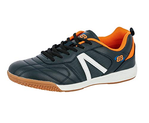Brütting Super Indoor Unisex Hallenturnschuh, Marine/ Orange, 41 EU