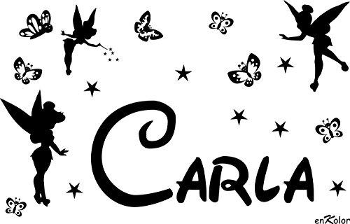 Enkolor/Vinilos Nombres Personalizados/Infantil/Hadas y Mariposas/Pegatinas Pared