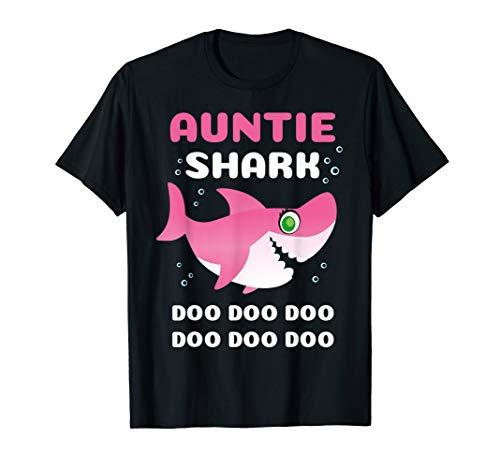 Auntie Shark Doo Doo Doo Funny Gifts Family T-Sh