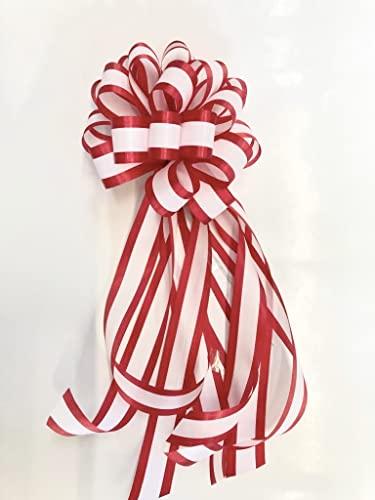 式典・耳赤テープカット用リボン/花(中) はさみorポール用全長約35cm