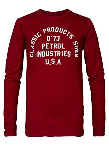 Petrol Industries Langarmshirt mit Logo-Aufdruck