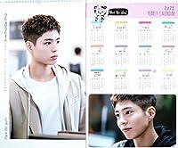 パク・ボゴム Park Bo Gum パクボゴム グッズ 大判 壁掛け カレンダー 2021年 (令和3年) + 年間カレンダー + ポストカード [3点セット]