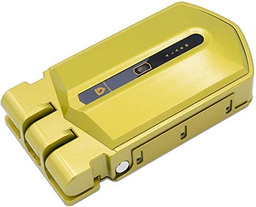 Golden Shield Alarm Cerradura invisible con alarma para puertas, cerradura sin llave con 4 mandos a distancia, cerradura electrónica de sobreponer para puertas antibumping, antirrobo, anti okupas.