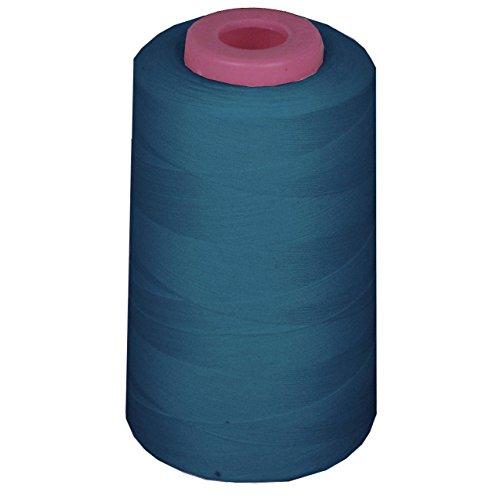 LA Linen 100% Polyester Cone Serger Thread, Dark Teal AX129